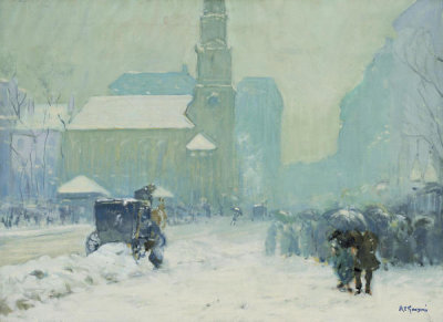 Arthur Clifton Goodwin - Park Street, Boston, about 1908