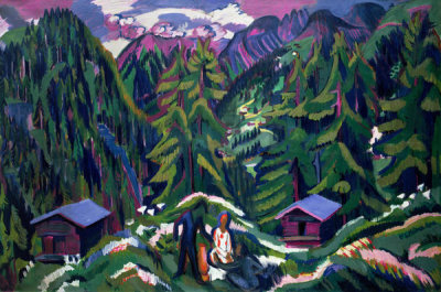 Ernst Ludwig Kirchner - Mountain Landscape from Clavadel, 1925-26