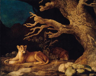 George Stubbs - Lion and Lioness, 1771