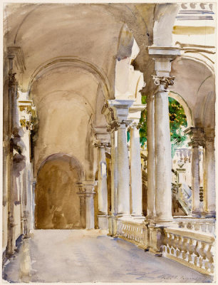 John Singer Sargent - Genoa: The University, about 1911