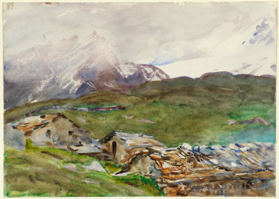 John Singer Sargent - Simplon Pass: Fresh Snow, about 1909-11