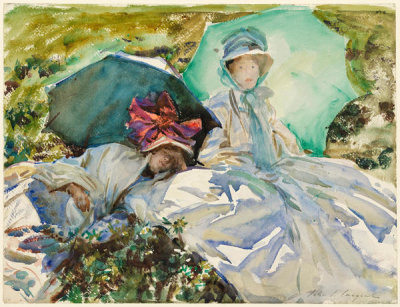 John Singer Sargent - Simplon Pass: The Green Parasol, about 1911