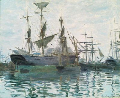 Claude Monet - Ships in a Harbor, about 1873