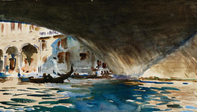John Singer Sargent - Venice: Under the Rialto Bridge, about 1909