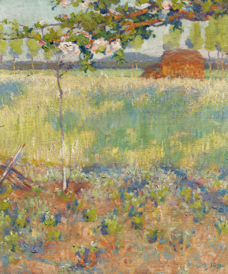 Robert Vonnoh - Springtime in France, 1890