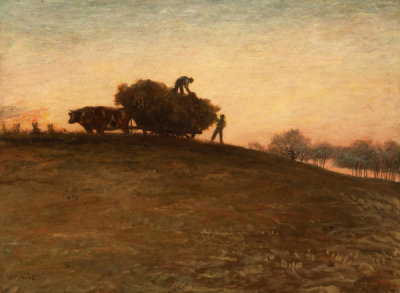 William Morris Hunt - Haying by Oxen, 1876