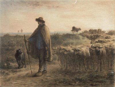 Jean-François Millet - Return of the Flock, about 1863-64