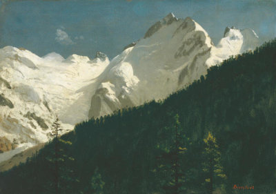 Albert Bierstadt - Piz Bernina, Switzerland, about 1880-90
