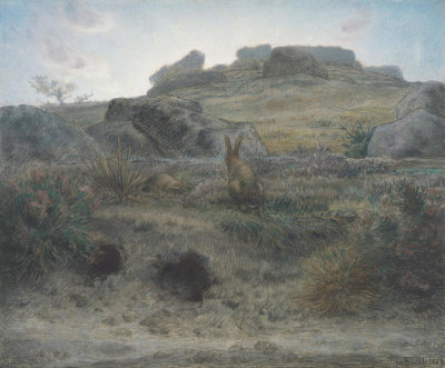 Jean-François Millet - Rabbit Warren, Dawn, 1867