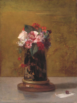 John La Farge - Vase of Flowers, 1864