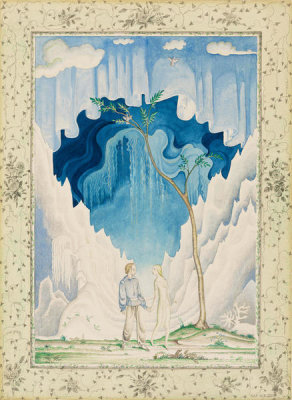 Kay Nielsen - But Gerda and Kay went hand in hand, and as they went it became beautiful Spring (from The Snow Queen), 1924