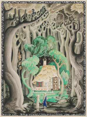 Kay Nielsen - They saw the cottage was made of bread and cakes (from Hansel and Gretel), 1924