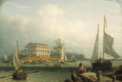Robert Salmon - Rainsford's Island, Boston Harbor, about 1840
