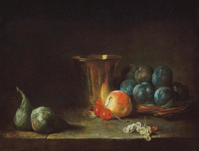 Follower of Jean Siméon Chardin - Goblet and Fruit, 18th or 19th century