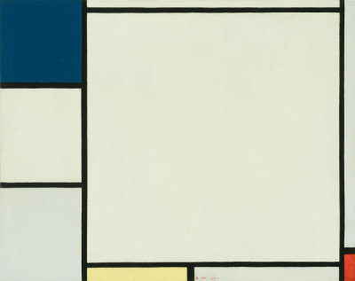Piet Mondrian - Composition with Blue, Yellow, and Red, 1927