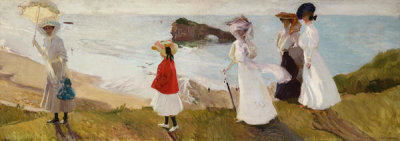 Joaquin Sorolla y Bastida - Lighthouse Walk at Biarritz, 1906