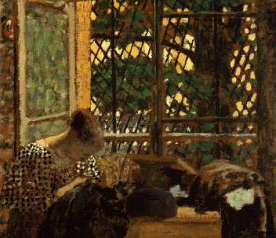Edouard Vuillard - Woman Sewing before a Garden Window, 1895