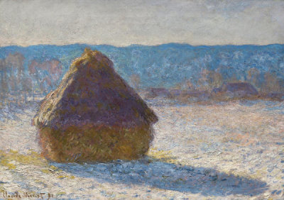 Claude Monet - Grainstack (Snow Effect), 1891