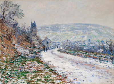 Claude Monet - Entrance to the Village of Vétheuil in Winter, 1879