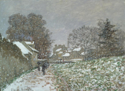 Claude Monet - Snow at Argenteuil, about 1874