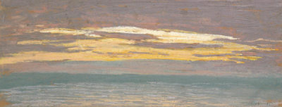 Claude Monet - View of the Sea at Sunset, about 1862