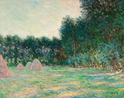 Claude Monet - Meadow with Haystacks near Giverny, 1885